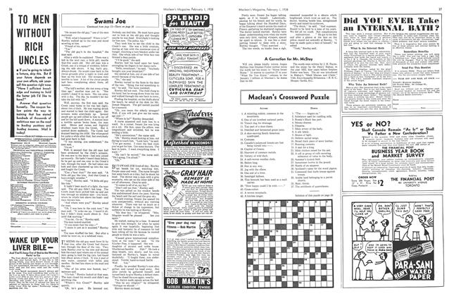 Article Preview: Maclean's Crossword Puzzle, February 1938   Maclean's