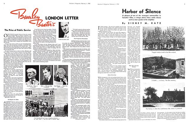 Article Preview: Harbor of Silence, February 1938 | Maclean's