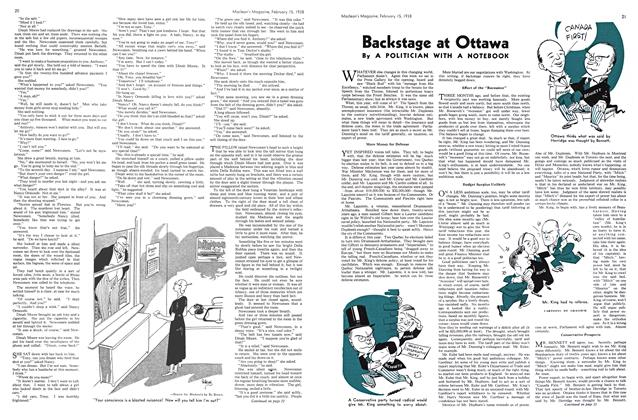 Article Preview: Backstage at Ottawa, February 1938   Maclean's