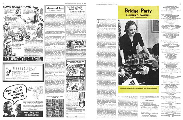 Article Preview: Bridge Party, February 1938 | Maclean's