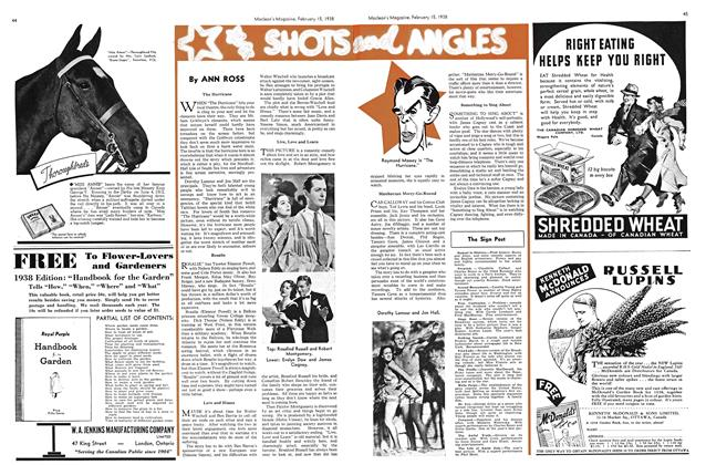Article Preview: SHOTS AND ANGLES, February 1938 | Maclean's