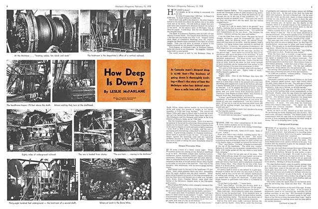 Article Preview: How Deep Is Down?, February 1938 | Maclean's