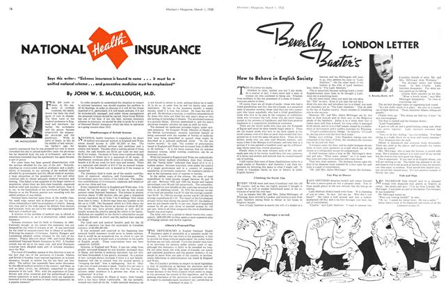 Article Preview: NATIONAL HEALTH INSURANCE, March 1938 | Maclean's