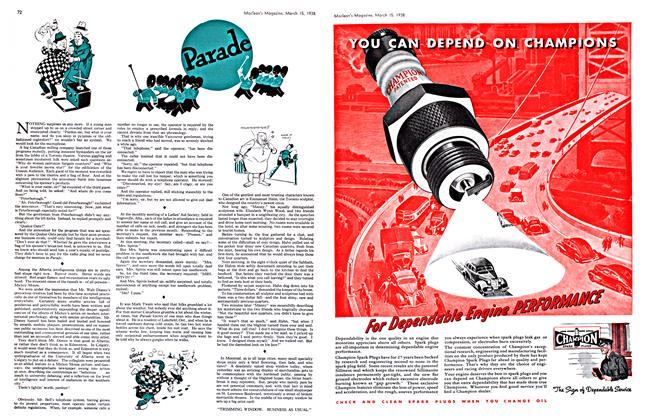 Article Preview: Parade, March 1938 | Maclean's