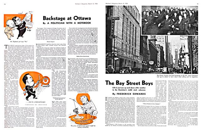Article Preview: Backstage at Ottawa, March 1938 | Maclean's