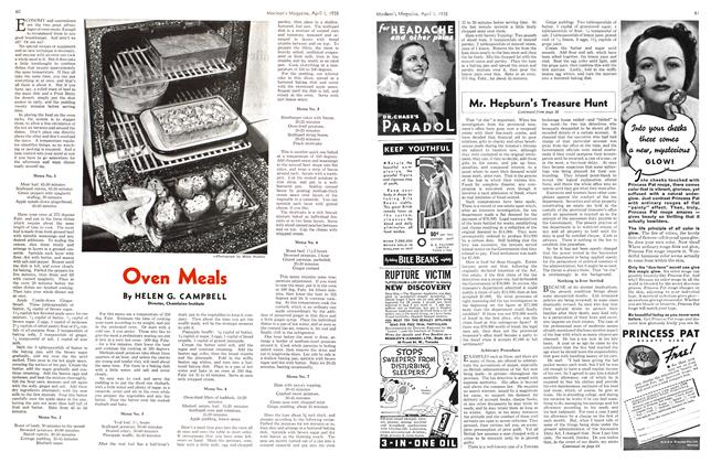 Article Preview: Oven Meals, April 1938 | Maclean's