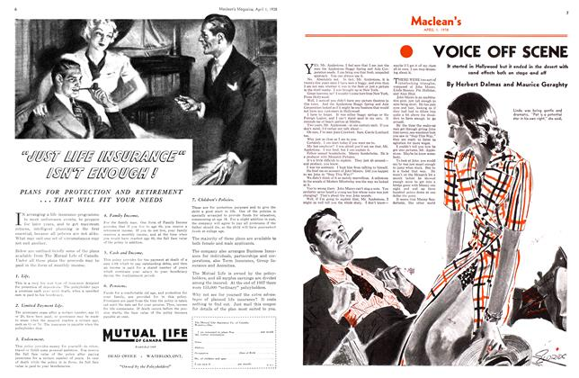 Article Preview: VOICE OFF SCENE, April 1938 | Maclean's