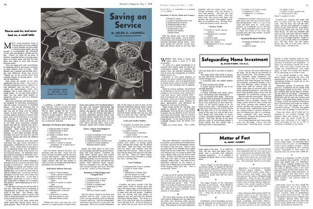 Article Preview: Saving on Service, May 1938 | Maclean's