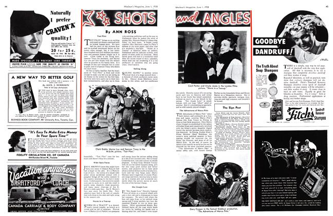 Article Preview: SHOTS and ANGLES, June 1938 | Maclean's