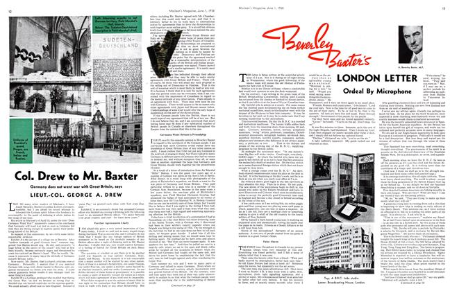 Article Preview: Col. Drew to Mr. Baxter, June 1938 | Maclean's