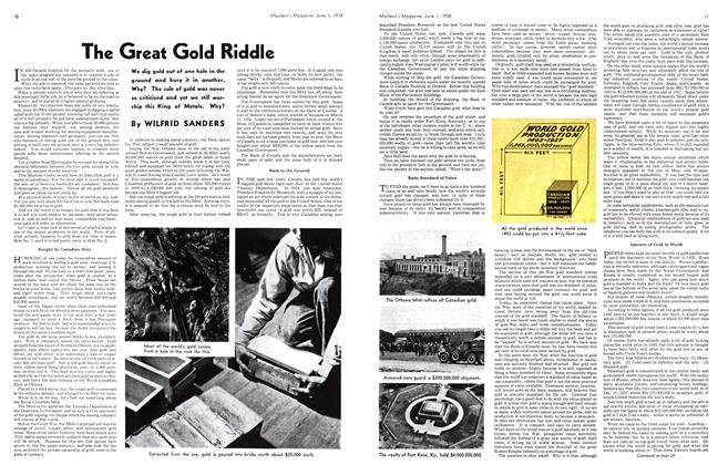 Article Preview: The Great Gold Riddle, June 1938 | Maclean's