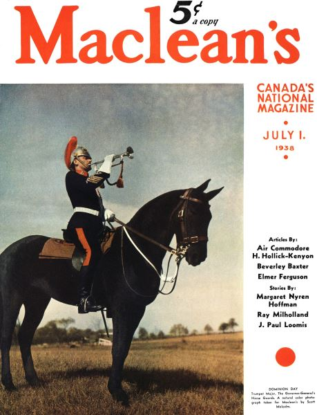 Issue: - J U LY 1 1938 | Maclean's