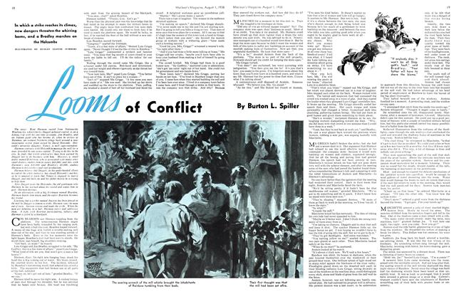Article Preview: Looms of Conflict, August 1938 | Maclean's