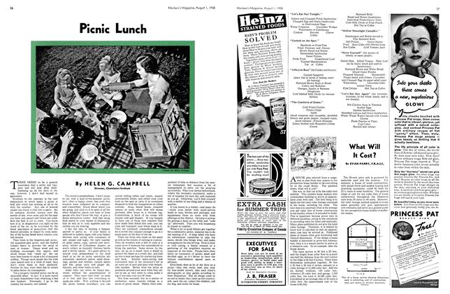 Article Preview: Picnic Lunch, August 1938 | Maclean's