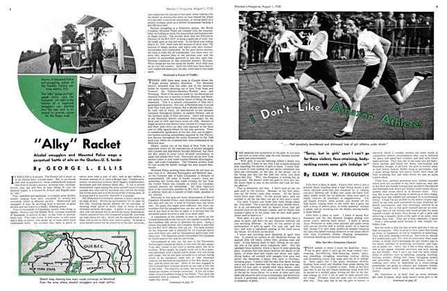 Article Preview: I Don't Like Amazon Athletes, August 1938 | Maclean's