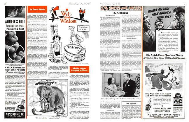 Article Preview: SHOTS and ANGLES, August 1938 | Maclean's