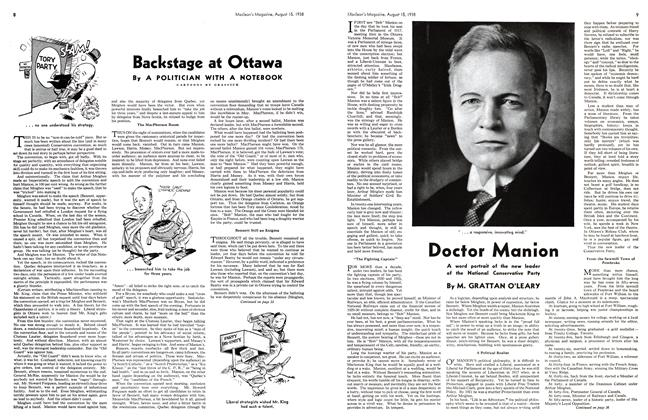 Article Preview: Doctor Manion, August 1938   Maclean's