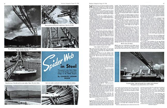 Article Preview: Spider Web in Steel, August 1938 | Maclean's