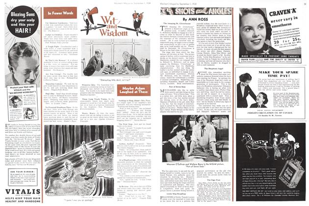 Article Preview: SHOTS and ANGLES, September 1938 | Maclean's