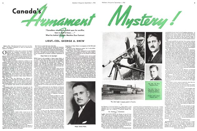 Article Preview: Canada's Armament Mystery, September 1938 | Maclean's