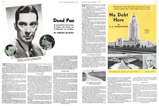 Article Preview: Dead Pan, September 1938 | Maclean's