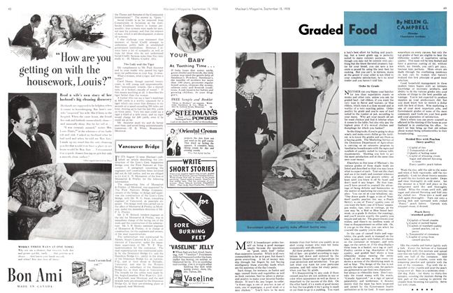 Article Preview: Graded Food, SEPT. 15. 1938 1938 | Maclean's