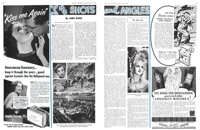Article Preview: SHOTS and ANGLES, SEPT. 15. 1938 1938 | Maclean's