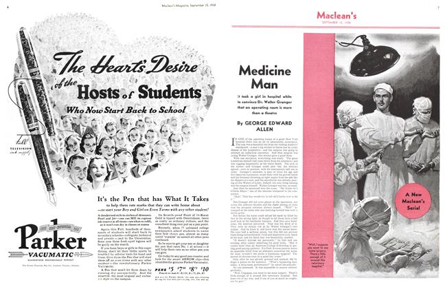 Article Preview: Medicine Man, SEPT. 15. 1938 1938 | Maclean's