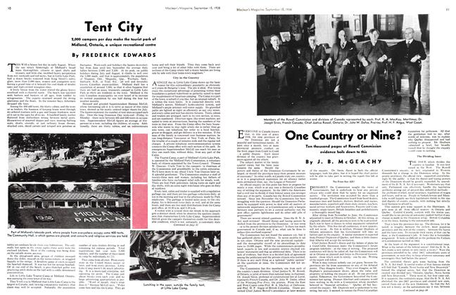 Article Preview: One Country or Nine?, SEPT. 15. 1938 1938 | Maclean's