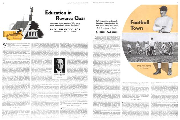 Article Preview: Education in Reverse Gear, October 1938 | Maclean's
