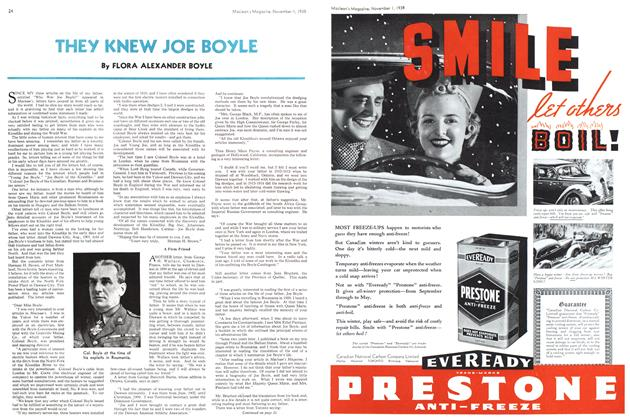 Article Preview: THEY KNEW JOE BOYLE, November 1938 | Maclean's