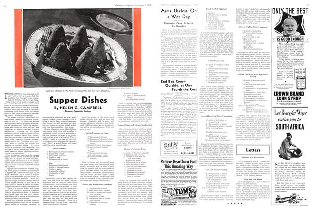 Article Preview: Supper Dishes, November 1938 | Maclean's