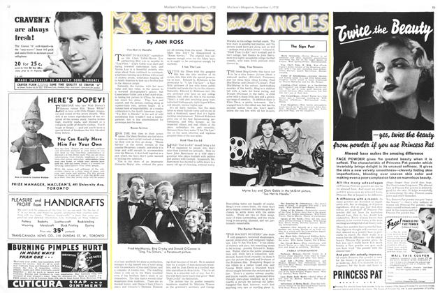 Article Preview: SHOTS AND ANGLES, November 1938 | Maclean's