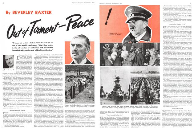 Article Preview: Out of Torment-Peace, November 1938 | Maclean's