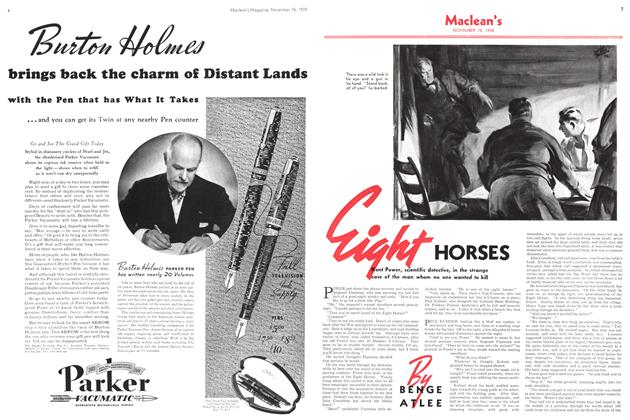 Article Preview: Eight HORSES, November 1938 | Maclean's