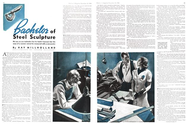Article Preview: Bachelor of Steel Sculpture, November 1938 | Maclean's