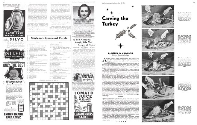 Article Preview: Carving the Turkey, December 1938 | Maclean's