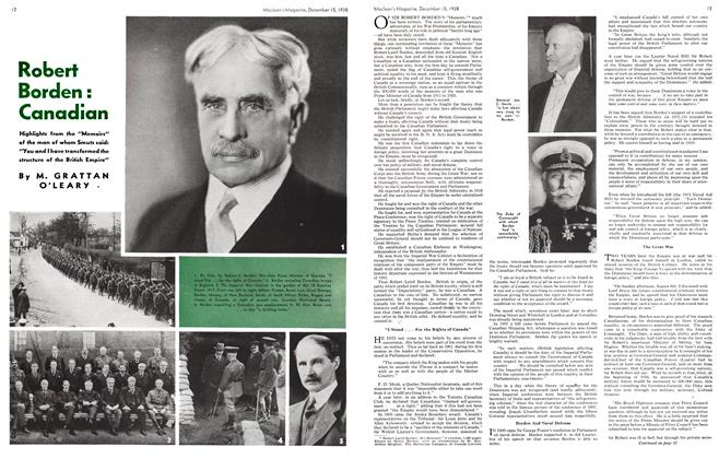Article Preview: Robert Borden : Canadian, December 1938 | Maclean's