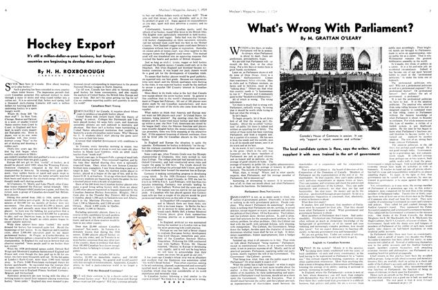 Article Preview: Hockey Export, January 1939 | Maclean's