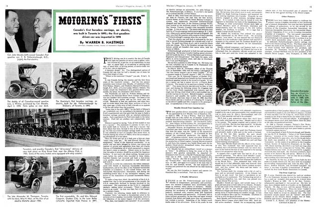 "Article Preview: MOTORING'S ""FIRSTS"", January 1939 