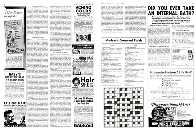 Article Preview: Maclean's Crossword Puzzle, February 1939 | Maclean's