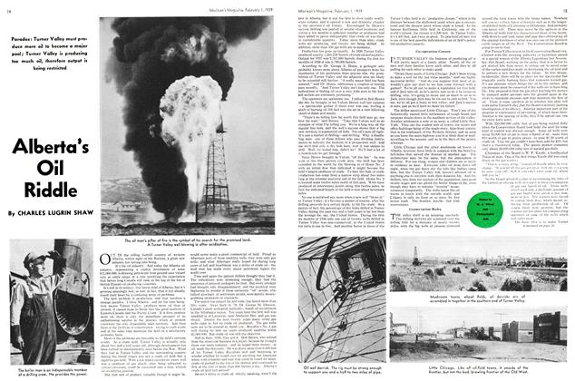 Article Preview: Alberta's Oil Riddle, February 1939 | Maclean's