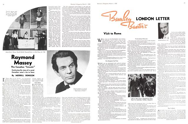 Article Preview: Raymond Massey, March 1939 | Maclean's