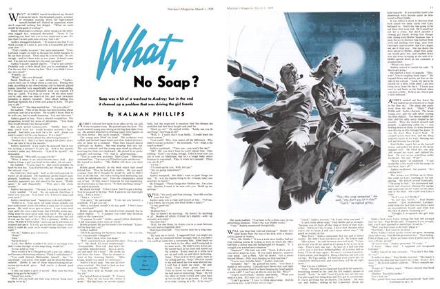 Article Preview: What, No Soap?, March 1939   Maclean's