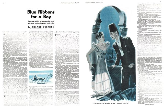 Article Preview: Blue Ribbons for a Boy, March 1939 | Maclean's