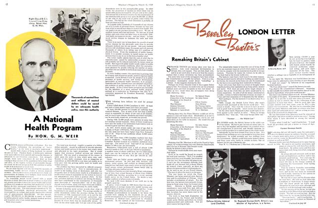 Article Preview: LONDON LETTER, March 1939 | Maclean's