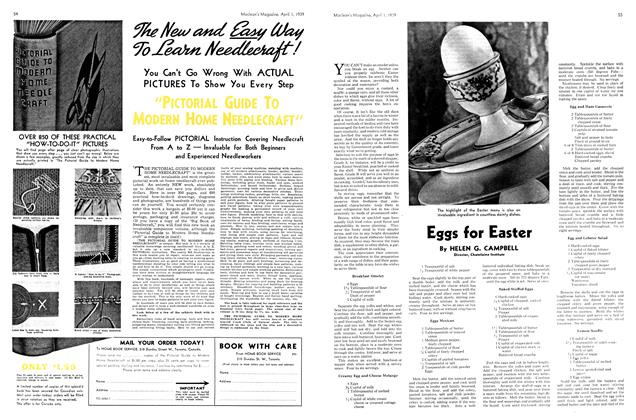 Article Preview: Eggs for Easter, April 1939 | Maclean's
