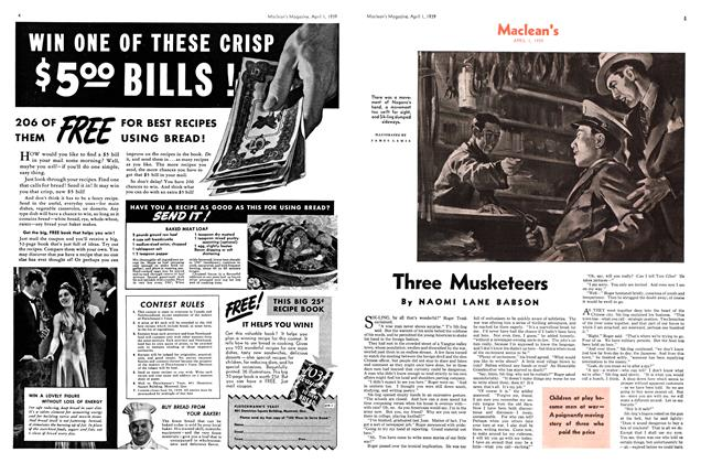 Article Preview: Three Musketeers, April 1939 | Maclean's