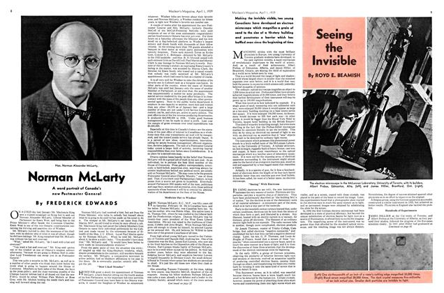 Article Preview: Seeing the Invisible, April 1939 | Maclean's