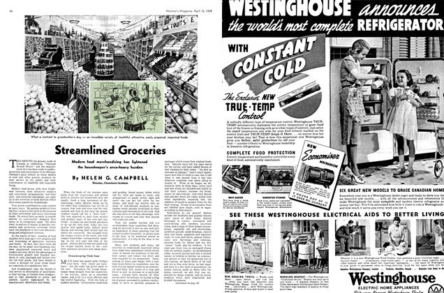 Article Preview: Streamlined Groceries, April 1939 | Maclean's